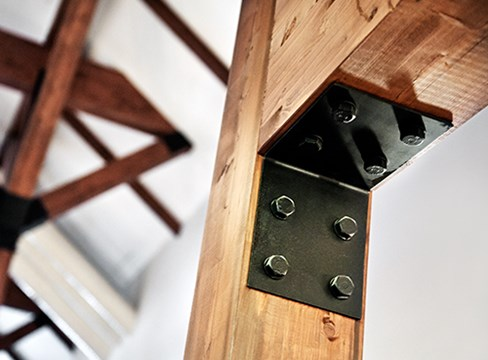 أمثلة للهياكل الخشبية